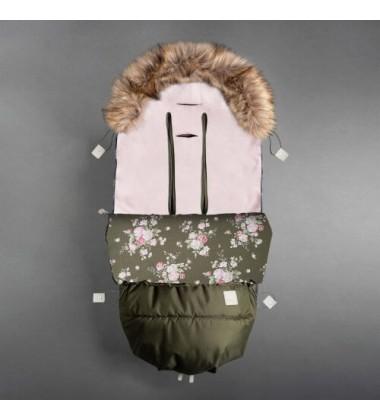Beztroska vokas į vėžimėlį rudeniui / žiemai. Spalva chaki ( dydis 110cm )