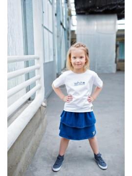 Tuss vaikiškas džinsinis sijonas. Spalva džinsinė/mėlyna