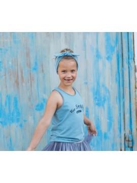 Tuss vaikiškas sijonas. Spalva tamsiai mėlyna/ mėlyna