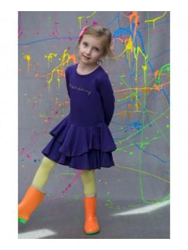 Monomy suknelė. Spalva violetinė. Dydžiai 116-134 cm