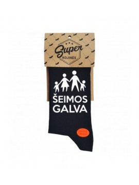 """Super kojinės """"Šeimos galva"""". Spalva juoda"""
