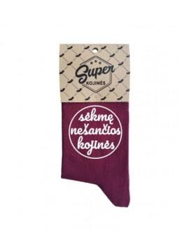 """Super kojinės moterims """"Sėkmę nešančios kojinės"""". Spalva bordinė"""