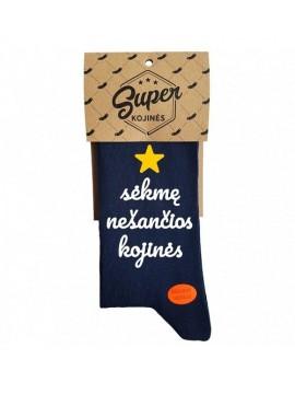 """Super kojinės """"Sėkmę nešančios kojinės"""". Spalva tamsiai mėlyna"""