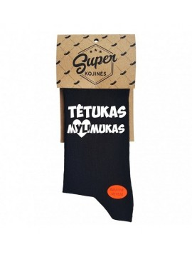 """Super kojinės """"Tėtukas mylimukas"""". Spalva juoda"""