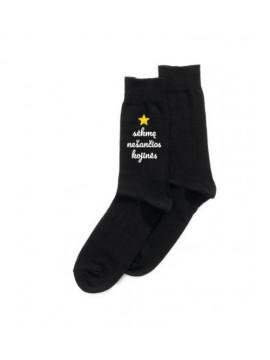 """Super kojinės """"Sėkmę nešančios kojinės"""" (pakabinama pakuotė). Spalva juoda"""