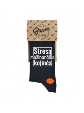 """Super kojinės """"Stresą mažinančios kojinės"""". Spalva juoda"""