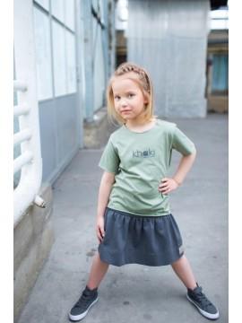 Tuss marškinėliai vaikams trumpomis rankovėmis. Spalva chaki