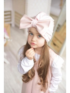 K&F Style kepurė- turbanas. Spalva rožinė