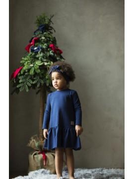 Tuss vaikiška suknelė Frilly. Spalva tamsiai mėlyna