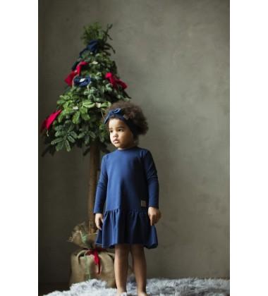 Tuss vaikiška suknelė Frilly 2019m. Spalva tamsiai mėlyna