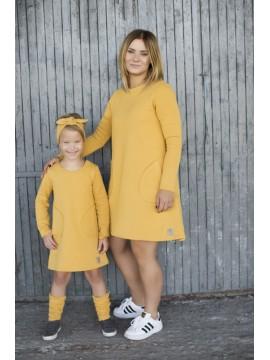 Tuss vaikiška suknelė . Spalva geltona