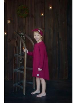 Tuss vaikiška suknelė varpelio formos . Spalva bordinė