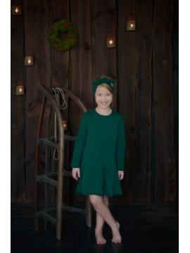 Tuss vaikiška suknelė . Spalva žalia