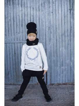 Tuss vaikiškas komplektukas (kepuraitė + movas) . Spalva juoda