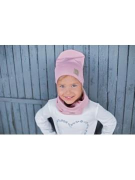 Tuss vaikiškas komplektukas (kepuraitė + šalikėlis) . Spalva rožinė