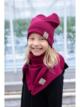 TUSS vaikiška kepurė. Spalva bordo