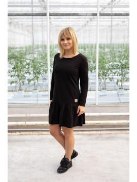 Tuss moteriška suknelė Frilly 2019m. Spalva juoda