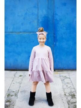 Tuss vaikiška suknelė varpelio formos 2019m. Spalva alyvinė